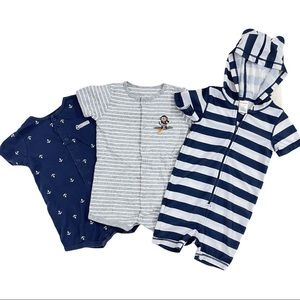 🍒 3/$25 Gymboree Carter's Rompers 24 Months